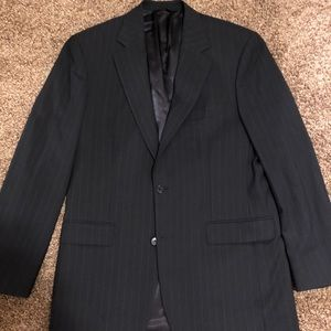 Brooks Brothers Blazer Navy Striped 39R Stretch